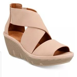 Clarks Clarene Glamour Wedge Sandals